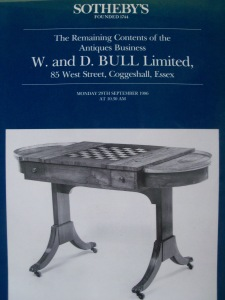 The winding-up sale for Wilfred Bull's firm conducted by Sotheby's
