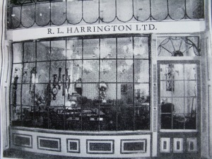 The dealer R L Harrington at 120-121 Mount Street in 1961