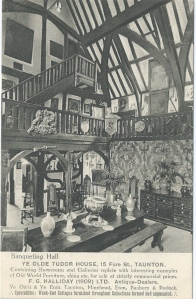 Ye Olde Tudor House, Taunton postcard