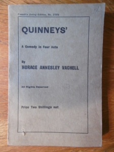 Quinneys play script 1915 reprint