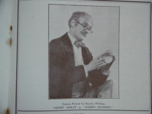 Henry Ainley as Quinney 1925