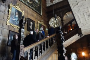 The main staircase at Temple Newsam House