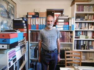Dominic Jellinek, of Bluett & Sons, pictured with the Bluett archive.